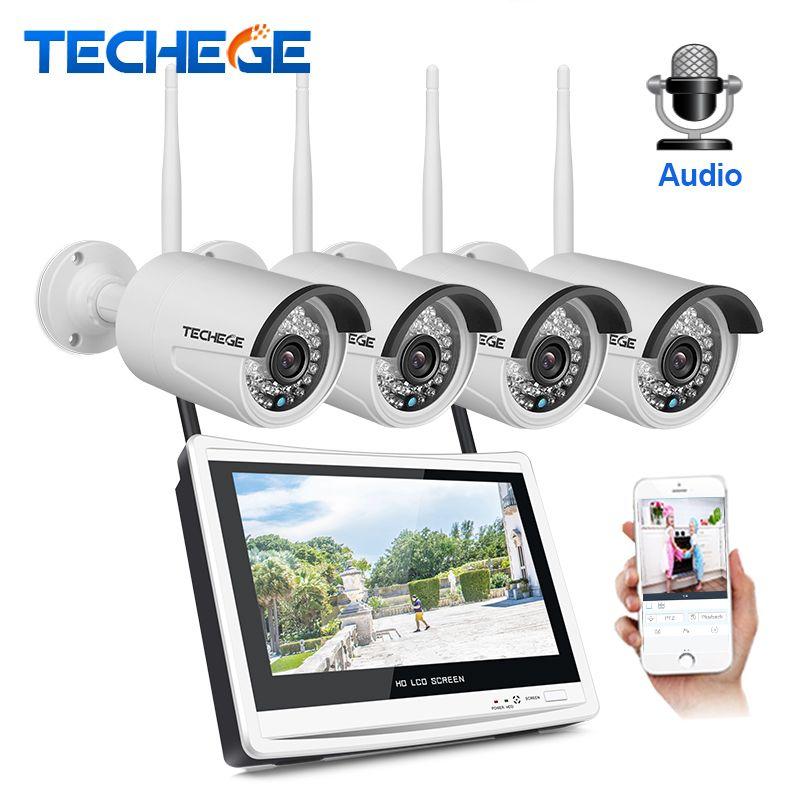 Techege 4CH Wireless 960P NVR Kit HD 12