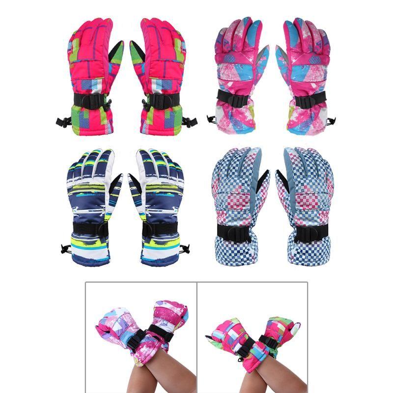 1 Pair Winter Waterproof Gloves Outdoor Sports Female Ski Gloves Warm Anti-Skid Wear Riding Ski breathable snowboard Gloves