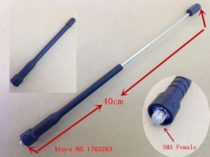 honghuismart Telescope ham radio antenna  SMA Female UHF VHF Dual Band for Kenwood BaoFeng UV5R,PuXing,TYT Weierwe walkie talke
