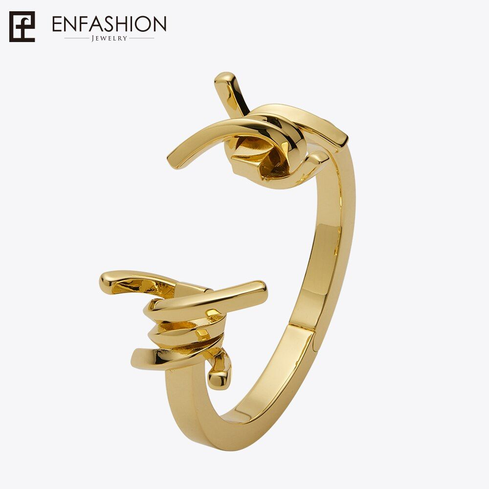 Enfashion Jewelry Thorns Barbed Bracelet Noeud armband Gold color Bangle Bracelet For Women Cuff Bracelets Manchette Bangles