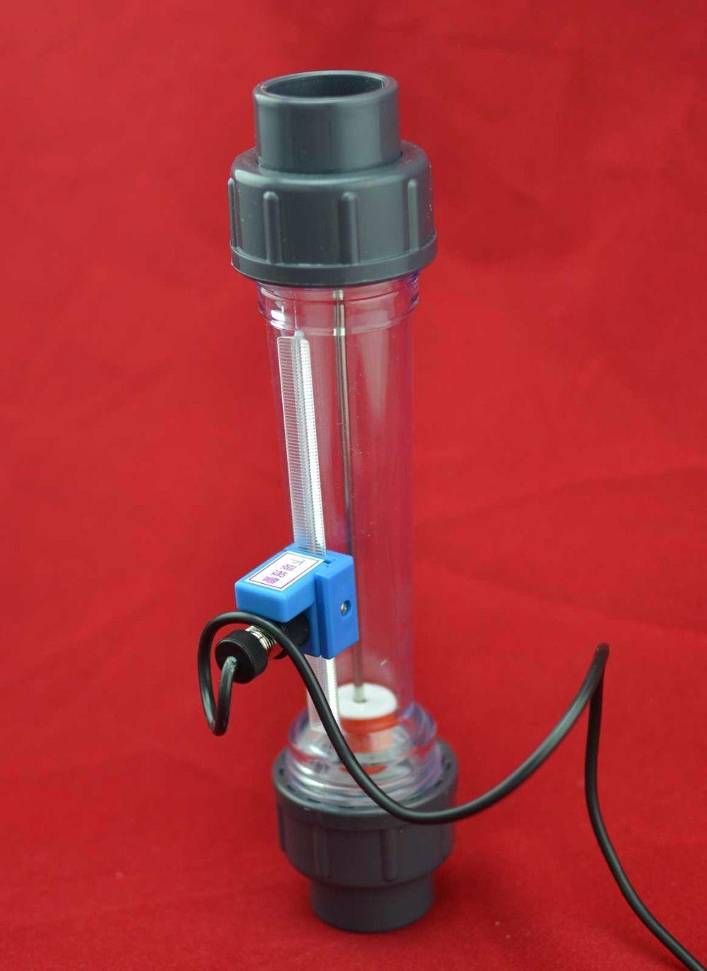 LZS-15A 80 à 800L/H ~ 1000L/H rotamètre à eau en tube plastique avec alarme de débit avec limite inférieure (par défaut) ou limite supérieure