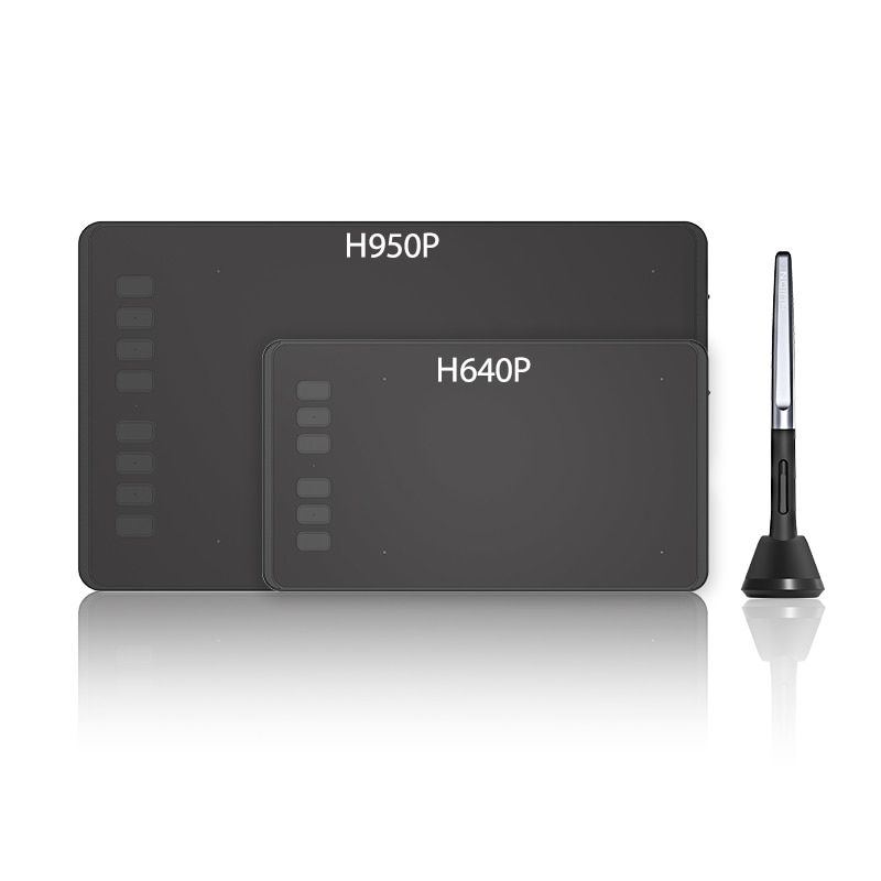 HUION Ultralight Graphic Tablets Digital Tablet <font><b>Drawing</b></font> Pen Tablet With Battery-Free Stylus for Mac and Windows -- H640P/H950P