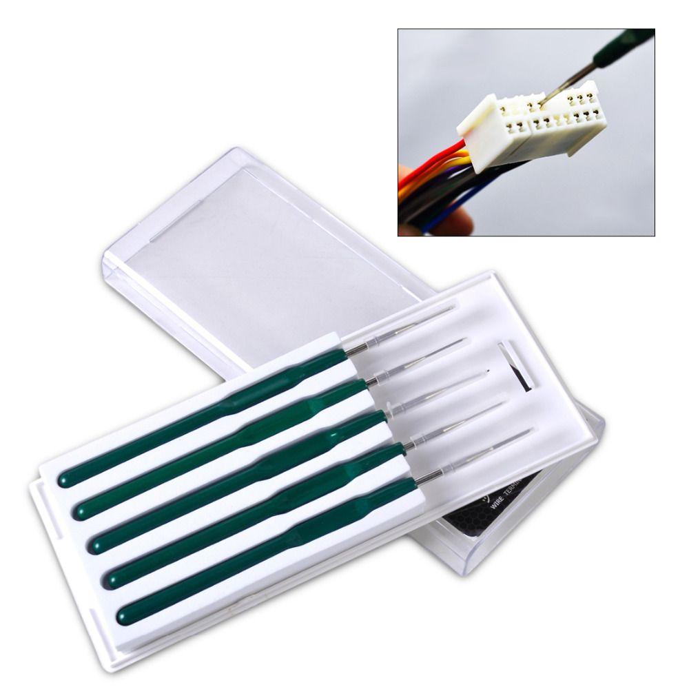 Beler DIY 5 pcs Voiture Câble Fil Terminal Socket Plug Pin Retrait Démonter Outil Kit pour VW Polo Audi A4 toyota RAV4 BMW F01 Benz