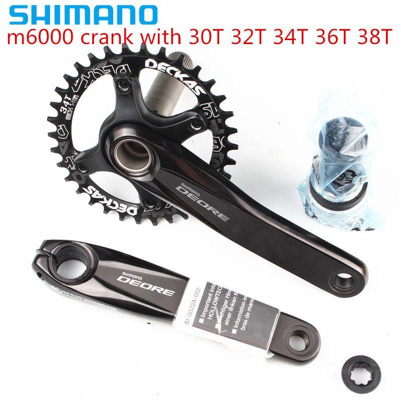 Pédalier shimano DEORE m6000 11 vitesses vélo vtt avec Deckas 96BCD plateau étroit large 30T 32T 34T 36T 38T avec BB52