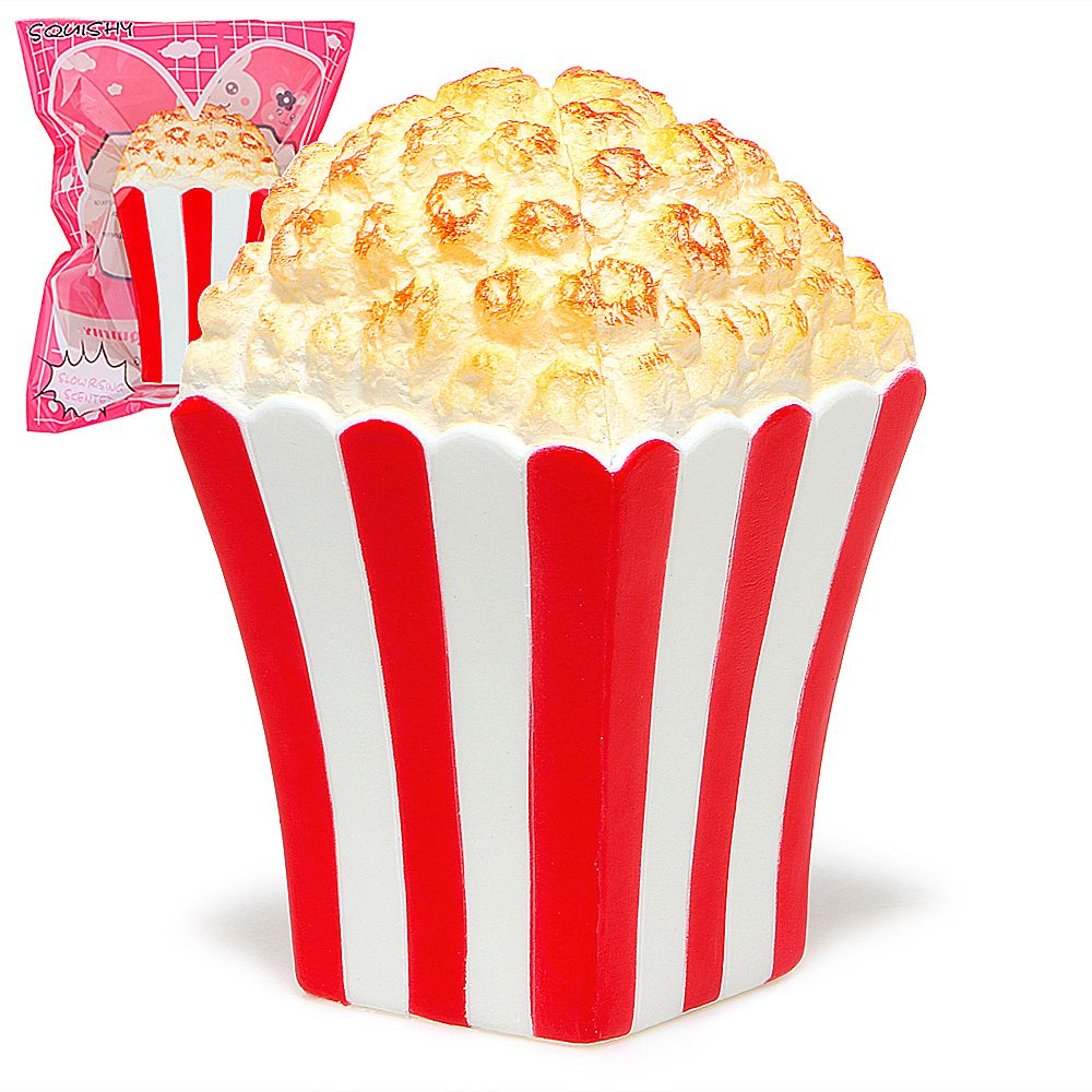 Jumbo Popcorn Squishy Slow Rising Bread Scented Original Package Squeeze Toy Kid Gift