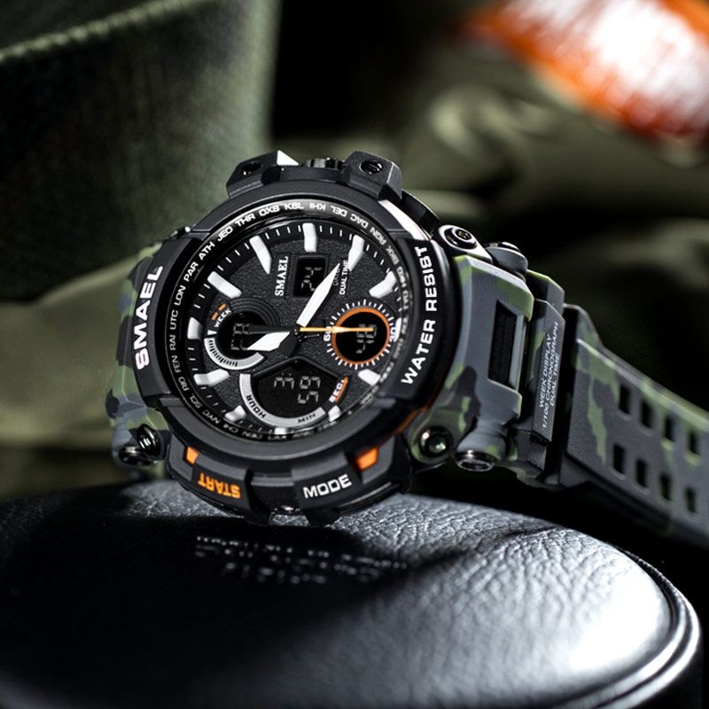 New Military Watch Sport Waterproof Digital Watch LED Male Clock Men Watch Funcional with Date 1708B Outdoor Sport Watches Men
