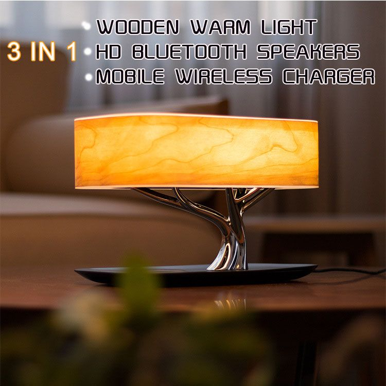 Tree Lamp Speaker,Bluetooth Speaker or wifi Speaker /Wirless Charging(QI) /Led Lamp/Atuo Sleep,mobile phone wireless charge