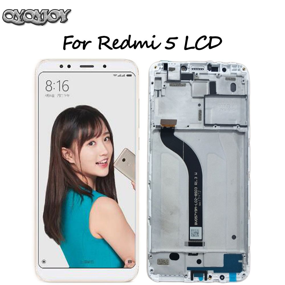 For Xiaomi Redmi 5 LCD Display Digitizer Touch Screen Assembly Frame for Redmi 5 lcd Replacement Repair Parts Black/White 5.7