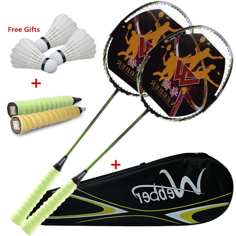 Professionelle Ultra Light Carbon Badminton Tennisschläger Elastische & Durable Schläger Für 18-24 £ Niedrigen/Medium Pfund Amateur Junior