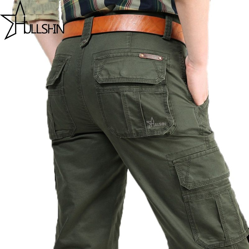 AFS JEEP 2017 Brand New Mens Military Cargo Pants Multi-pockets Baggy Men Pants Casual Trousers Overalls Army Pants 2155