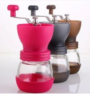 FeiC 1 pc 3 couleurs Main moulin noyau céramique café haricots moulin broyeur Réglable degré d'épaisseur Lavable portable Hario Style