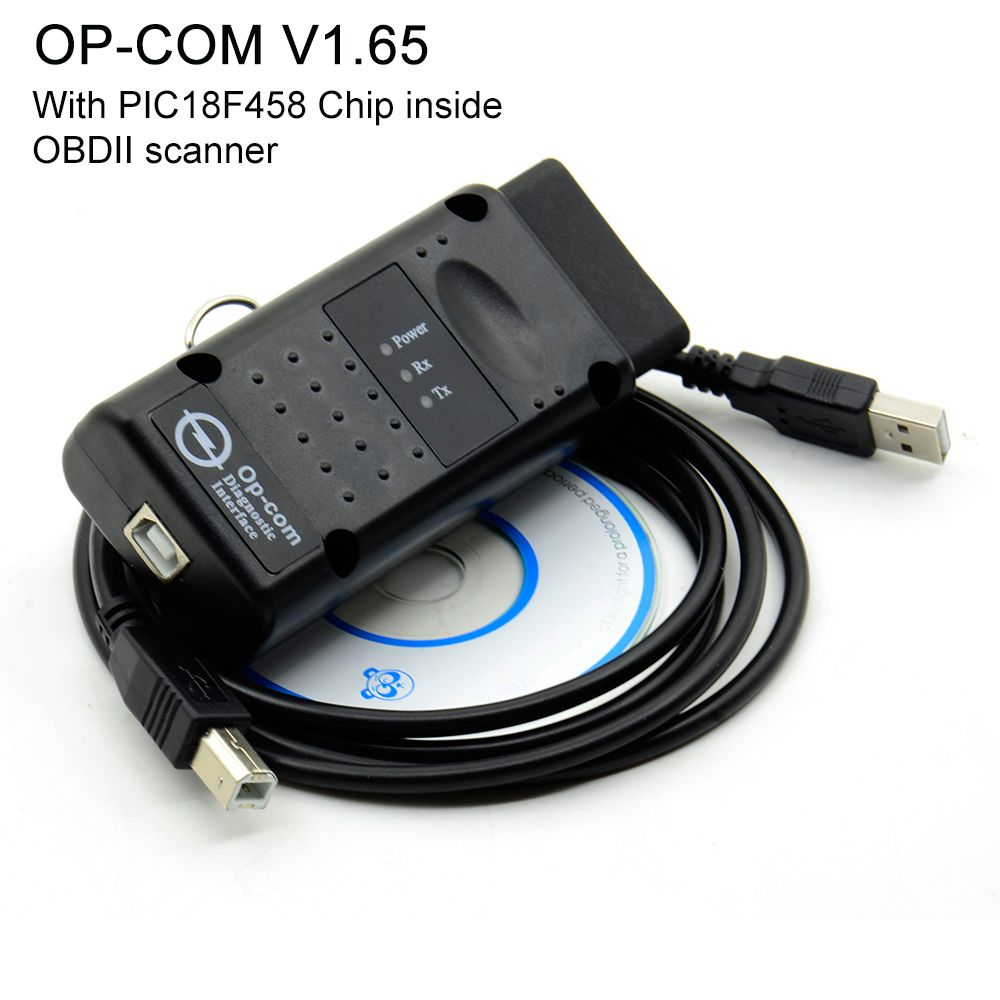V1.70 V1.65 OPCOM With PIC18F458 FTDI FT232RL Chip OBD OBD2 Diagnostic Tool OP-COM For Opel Op Com Can Bus OBDII scanner Cable
