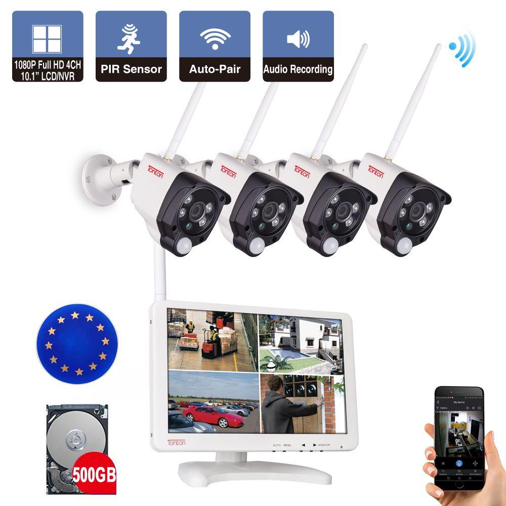 Tonton 4CH 1080P Wireless CCTV System 10.1