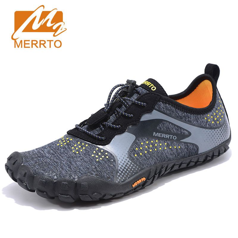 MERROT Men Anti Skid Outsole Five Finger Toes Quick Drying Outdoor Waking Shoe Slip Resistant Breathable Lightweight 5 Toe Shoes