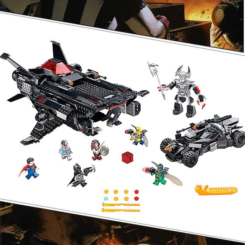 Bela 10846 DC Comic Super Hero Flying Fox Batmobil Luftbrücke Angriff Bausteine Spielzeug Kompatibel Mit Legoings Batman 76087