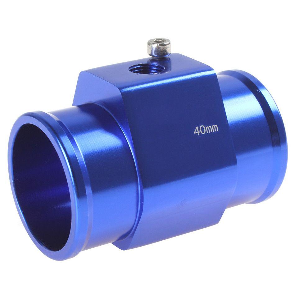Auto Car Water Temperature Sensor Adapter Water Temp Gauge Meter 40mm Aluminium with Clamps