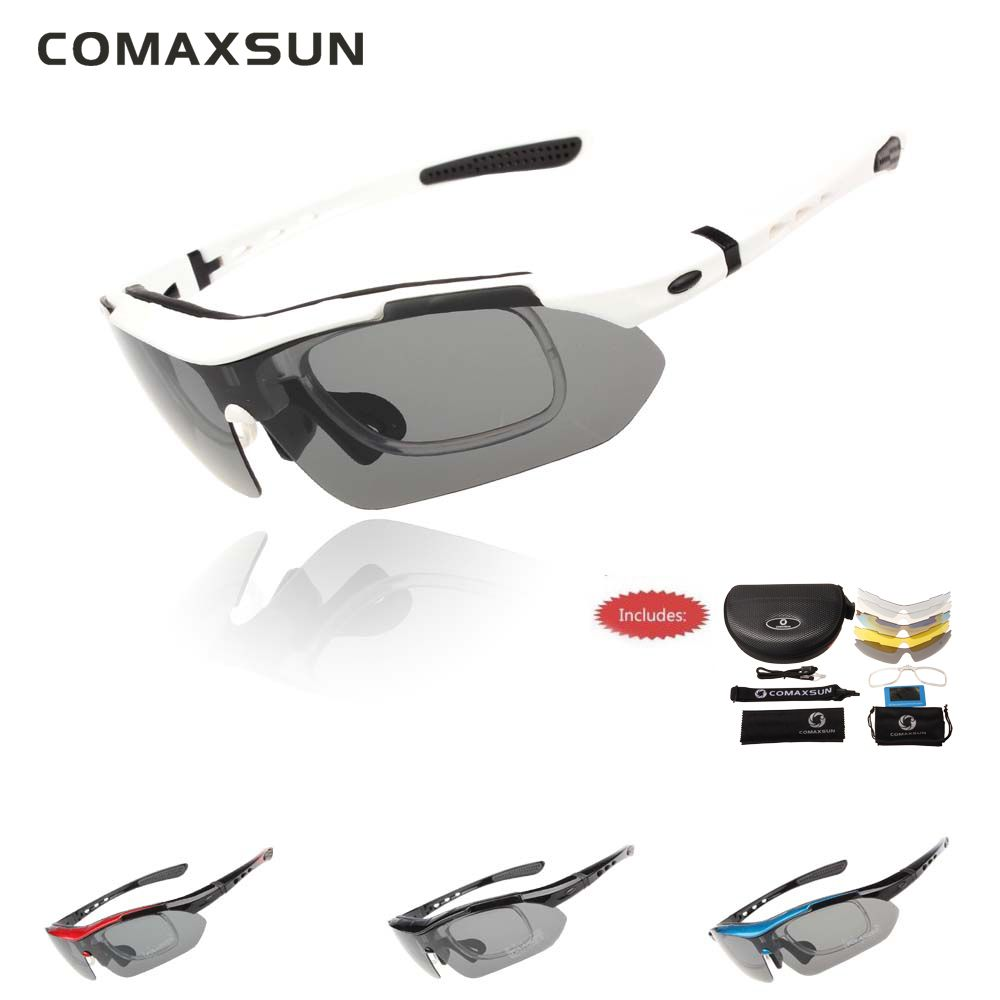 Professional Polarized Cycling Glasses <font><b>Bike</b></font> Goggles Outdoor Sports Bicycle Sunglasses UV 400 With 5 Lens TR90 5 color