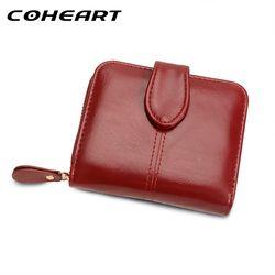 Coheart monedero de la cartera las mujeres de moda femenina Cartera de cuero pu monedero multifunción pequeña bolsa de dinero de bolsillo monedero calidad superior!