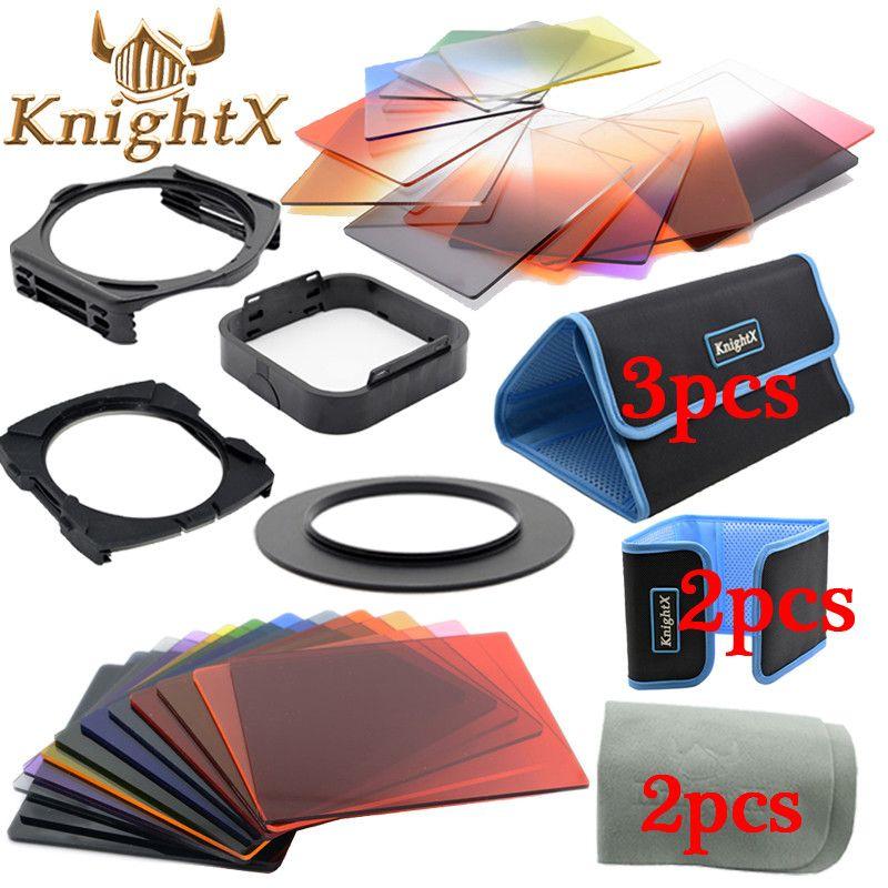KnightX 24 filtre gradué ND Set couleur cokin série p pour Nikon Canon EOS 1200D 750D 700D 600D 100D objectif 52 58 67 77 82 mm