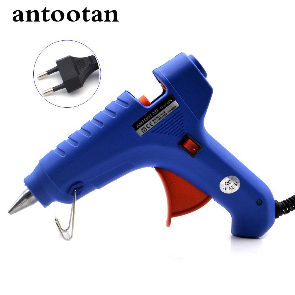 40 W UE Plug Thermofusible Colle GunTemperature Outil Industriel Mini Canons Thermo Gluegun Applicateur Livraison 1 pc 11mm colle Bâton Chaleur