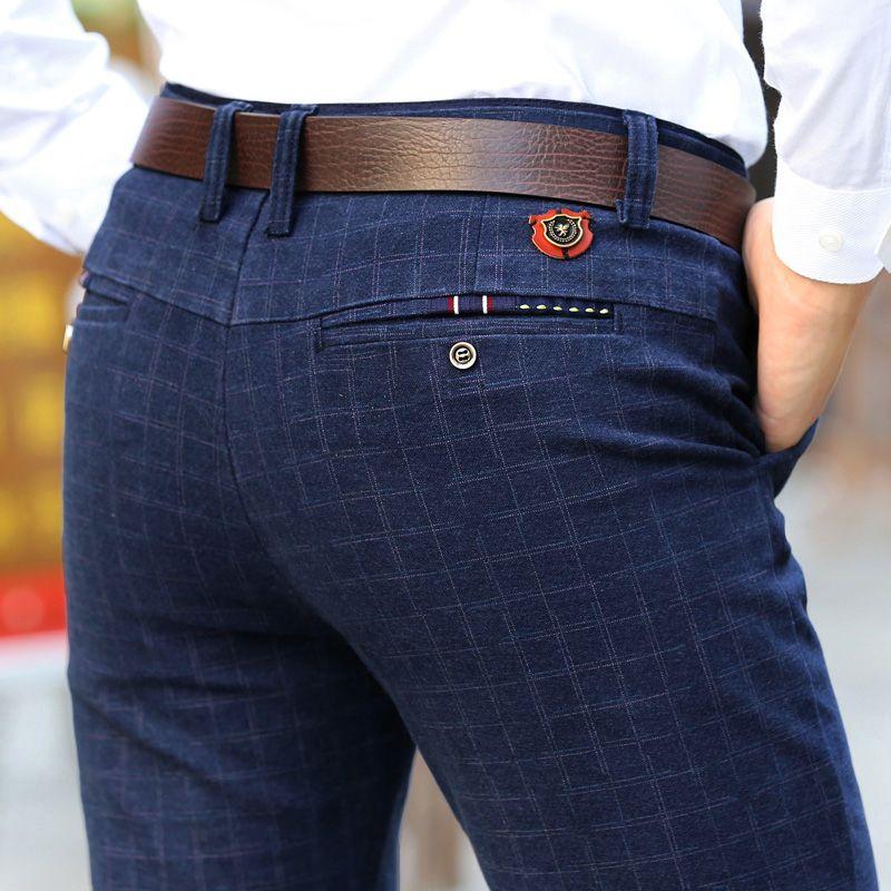 2018 New England plaid pants and dress pants men sanding male trousers men's winter Long pants