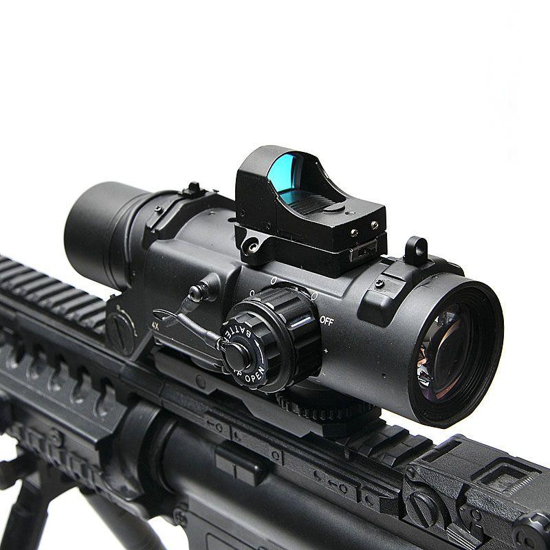 Taktische Zielfernrohr DR Schnell Abnehmbare 1X-4X Einstellbar Dual Rolle Anblick Airsoft Umfang Vergrößerung Jagd Scopes