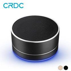 CRDC Wireless Bluetooth Speaker Portable Mini Metal Bass Sound Play Mic TF Card FM Radio AUX Music Player Loudspeaker