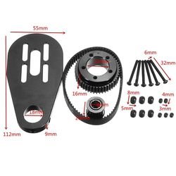Mayitr Skateboard Listrik Motor Pulley Aksesoris Sabuk Gunung Kit untuk 72mm 70mm Roda Stainless Steel Skate Katrol
