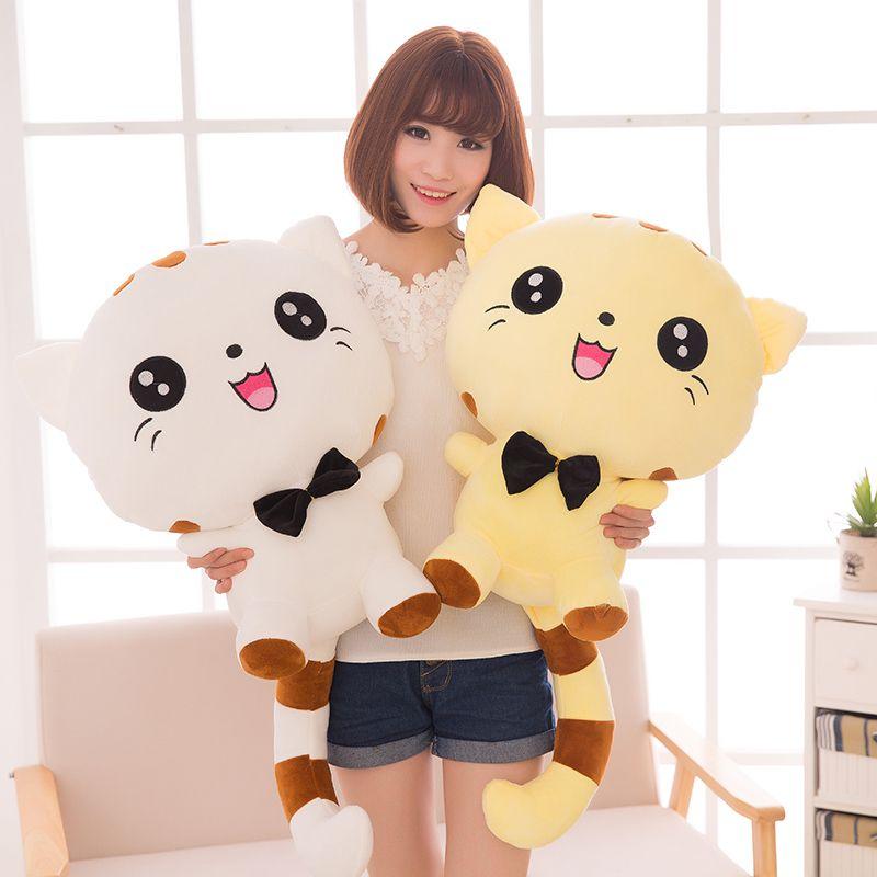 20CM  Cute Large Size Cat Plush Stuffed Toys Pillow Birthday Gift Cushion Fortune Cat Doll Pusheen Kawaii Plush Toys