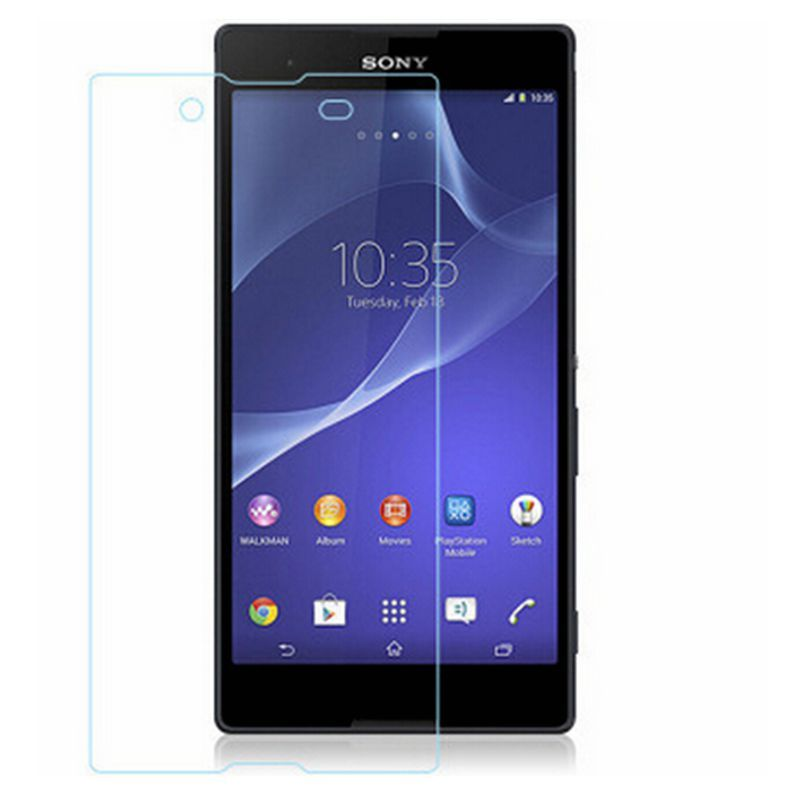 For Sony Xperia E3 T3 C3 Z3 Tempered Glass 2.5D 9H High Quality Ultra-thin Clear Real Screen Protector + Cleaning Kit