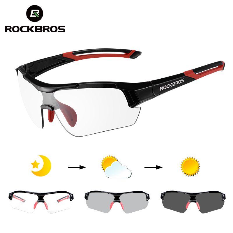 ROCKBROS photochromique vélo vélo lunettes Sports de plein air vtt vélo vélo lunettes de soleil lunettes de vélo myopie cadre