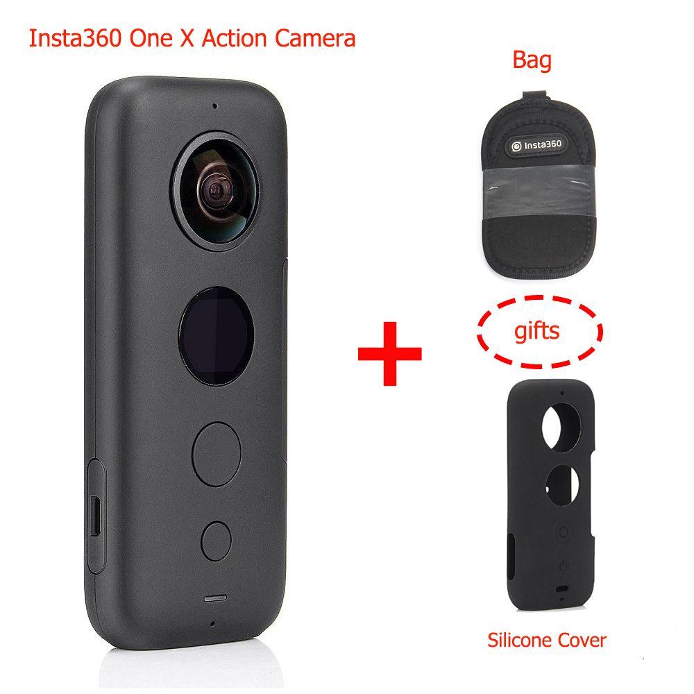 Insta360 ONE X 360 Action Kamera, mit Flowstate Stabilisierung, 5,7 K Video Echtzeit WiFi Transfer Action Kamera für iPhone