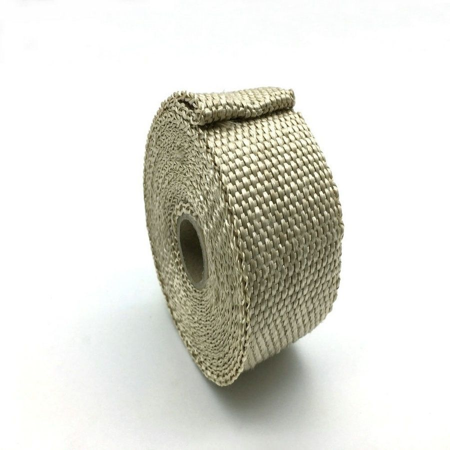 Exhaust Muffler Pipe Header Heat Resistant Exhaust Wrap Exhaust Thermal Insulation Tape 5 m x  2