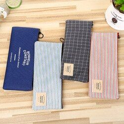 Stationery Canvas Pencil Case school Pencil Bag School pencilcase Office School Supplies Pen bag Pencils Writing Supplies Gift