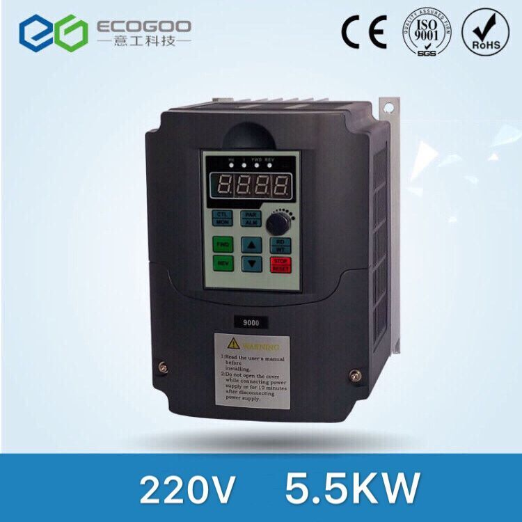 New inverters high quality 5.5KW 220V 20A VARIABLE FREQUENCY DRIVE INVERTER VFD factory direct sales free shipping
