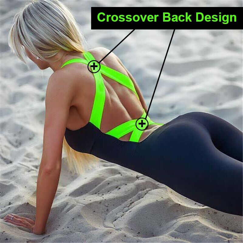 <font><b>2018</b></font> Workout Tracksuit For Women One Piece Sport Clothing Backless Sport Suit Running Tight Dance Sportswear Gym Yoga Women Set