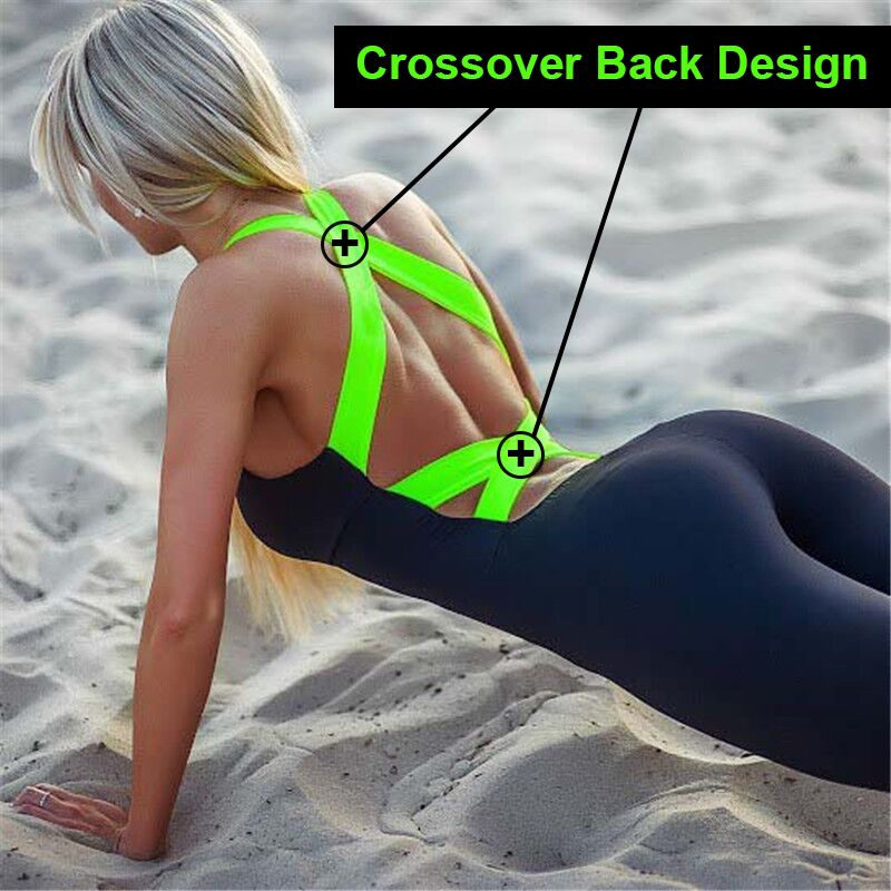2018 Workout Tracksuit For Women One Piece Sport Clothing Backless Sport Suit Running <font><b>Tight</b></font> Dance Sportswear Gym Yoga Women Set