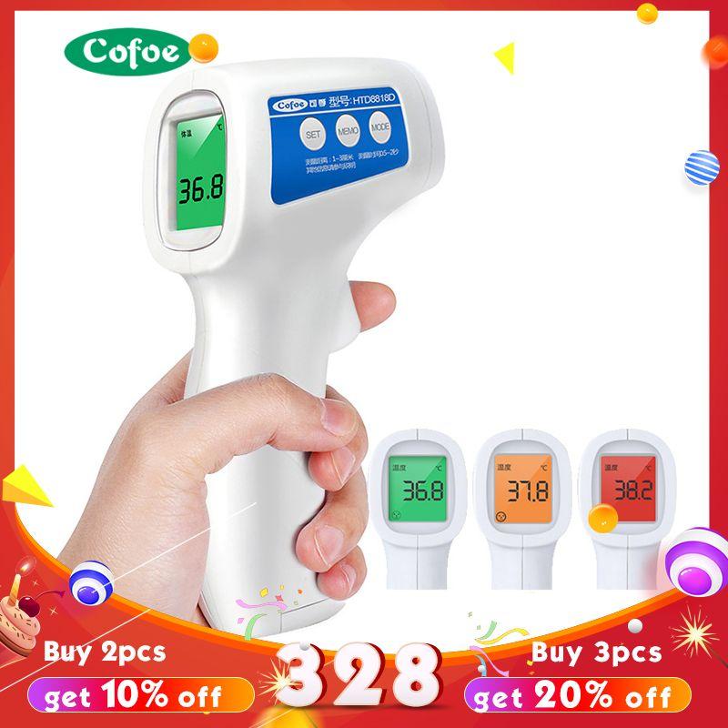 Cofoe Front Sans Contact Infrarouge thermomètre pour bébé Corps Température Fièvre Outil de Mesure Numérique pour Bébé Adulte