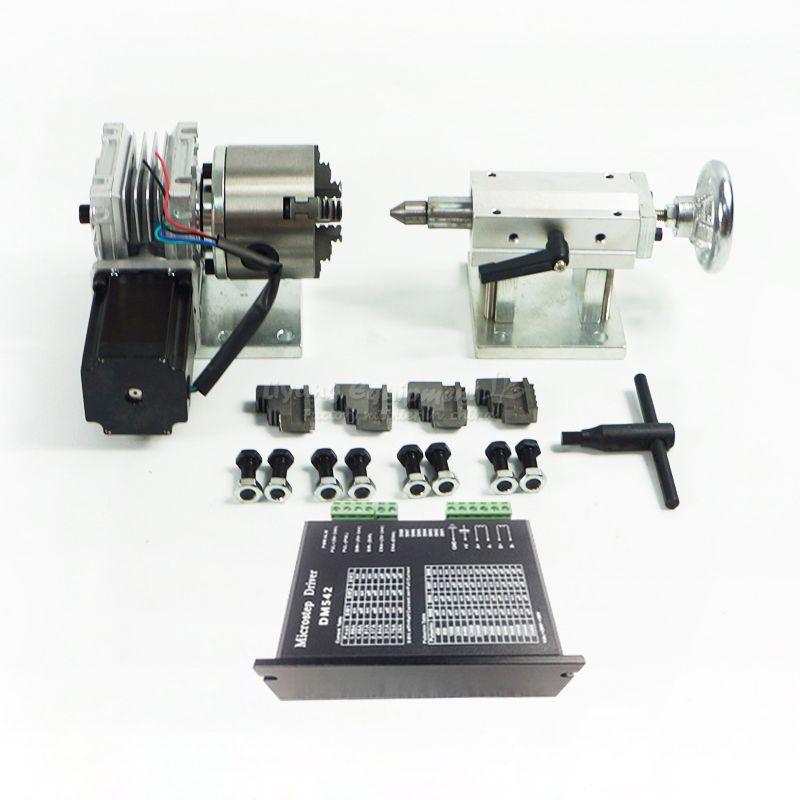 Eine Axis Drehachse Verlängern Achsen der. Achse mit 80mm 4-Jaw Spannfutter für holz/metall CNC Router fräsmaschine CNC3040 6040 6090