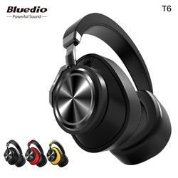 Bluedio T6 Aktif Noise Cancelling Headphone Nirkabel Bluetooth Headset dengan Mikrofon untuk Ponsel dan Musik