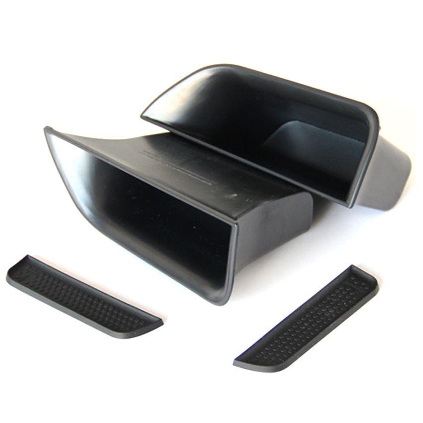 Carmonsons organisateur de voiture pour Jaguar XF 2009-2015 poignée de porte accoudoir boîte de rangement conteneur Hoder plateau accessoires style de voiture