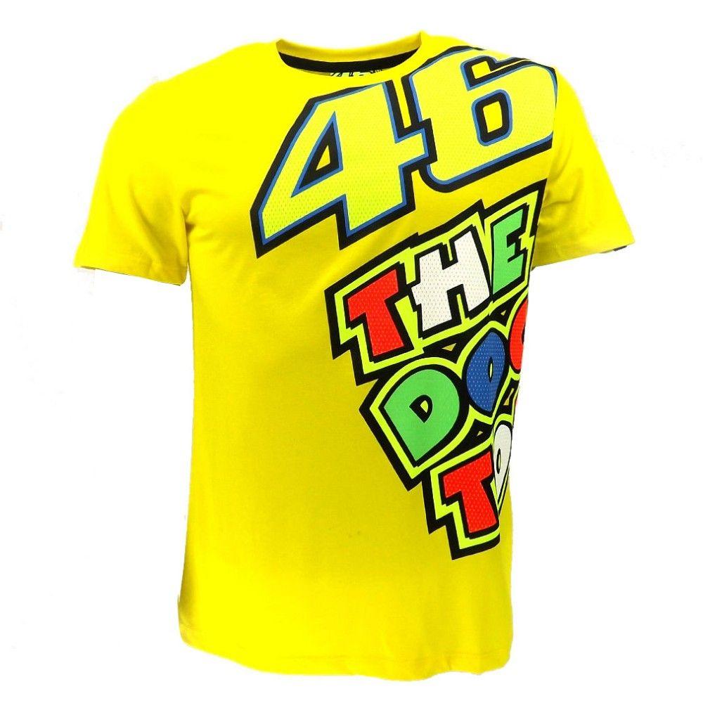Valentino Rossi VR46 Yellow 46 The Doctor T-Shirt Racing Sport Motor Moto GP T shirt