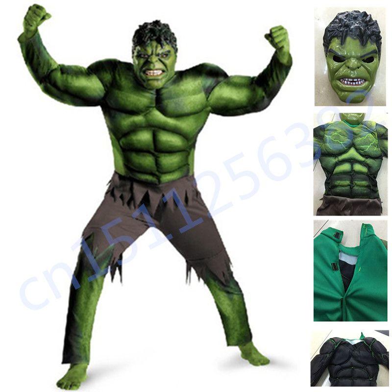 The Avengers Hulk Costume pour garçons Cosplay Halloween Costume pour enfants Carnaval Vêtements Enfants Cadeaux Fantasy Muscle Masque