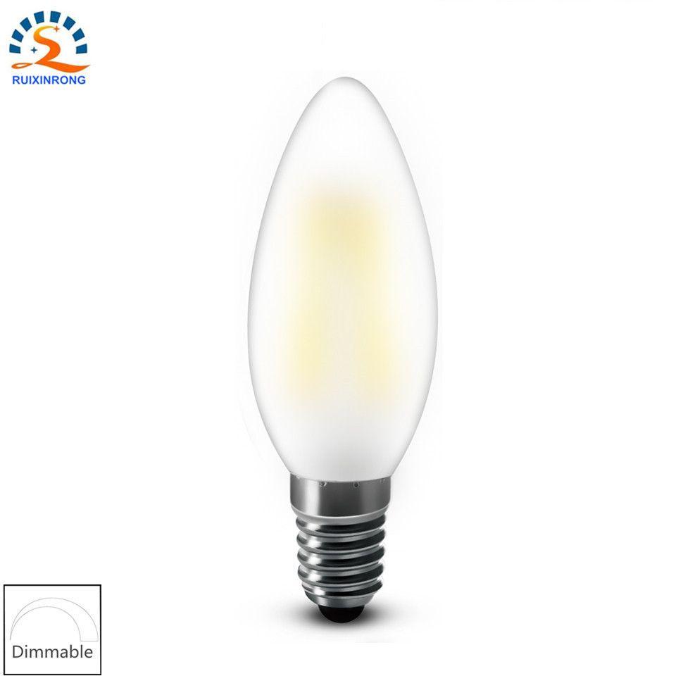 RXR led kerzenlampen E14 E12 2 watt 4 watt 6 watt C35 B10 Matt edison retro LED Filament glühbirnen ampulle vintage led-lampe 110 V 220 V