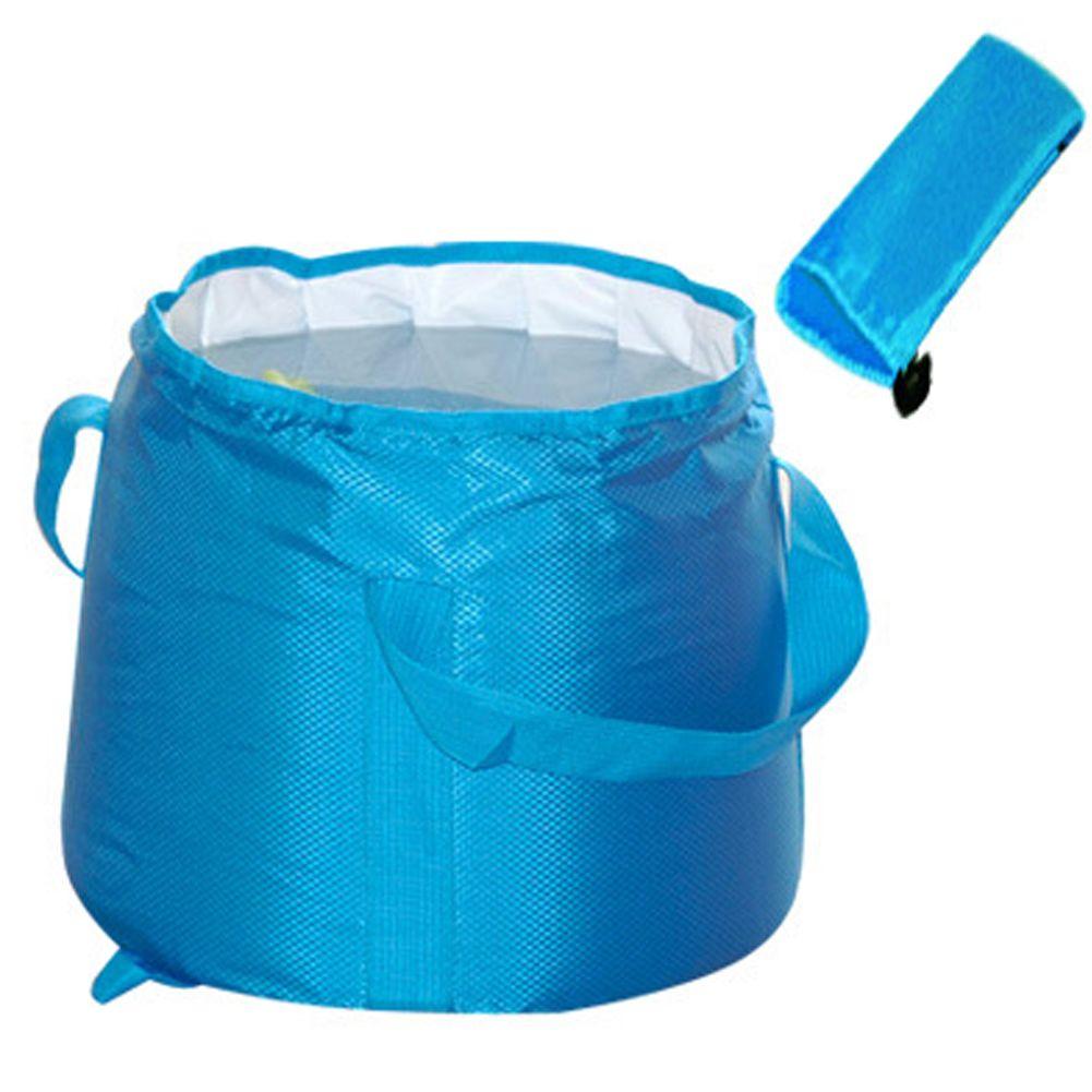 Vente chaude en plein air Portable pliant seau à eau 20L et 12L Ultra-grande capacité Camping randonnée eau Pot salle de bains outils bassin