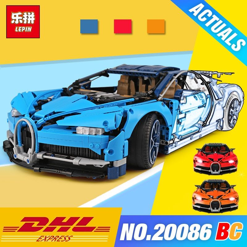Lepin 20086 Technic Series Blue Racing Car Compatible with 42083 Toys Model Building set Blocks DIY Car Bricks Assemblage Gifts
