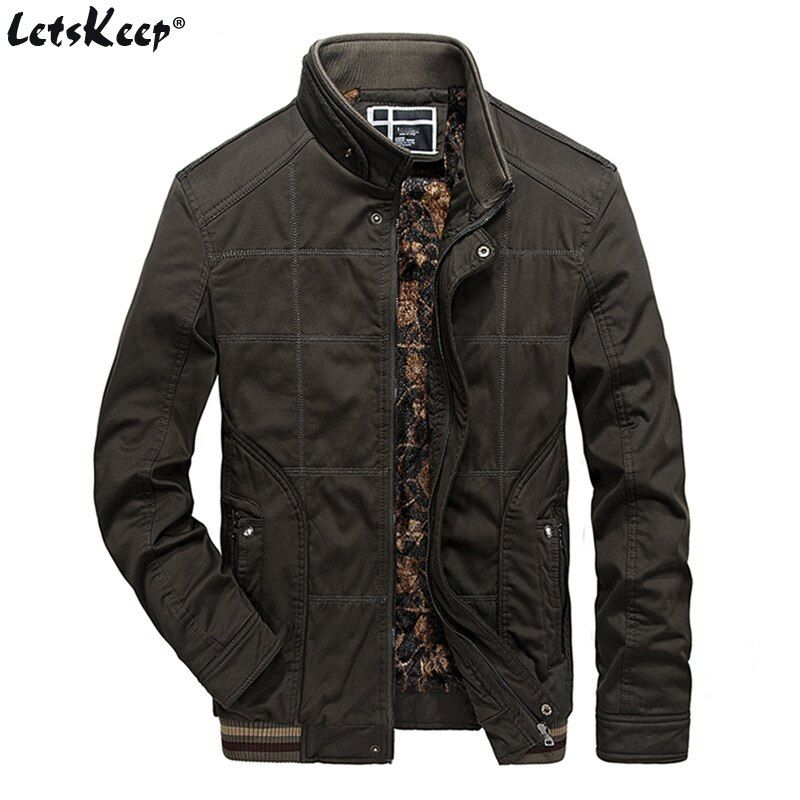 LetsKeep Tactical Military jacket men winter Army Green fleece jacket casual <font><b>loose</b></font> mens windbreaker jackets coat big size MA417