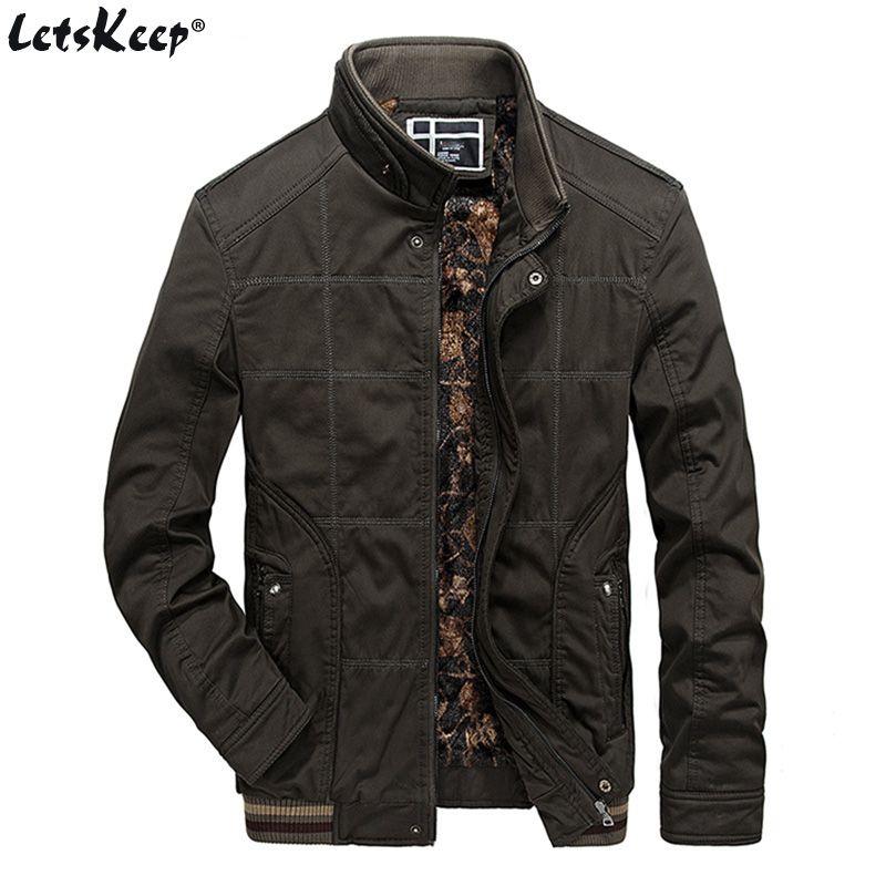 LetsKeep Tactical Military jacket men winter Army Green fleece jacket casual loose mens windbreaker jackets coat big size MA417