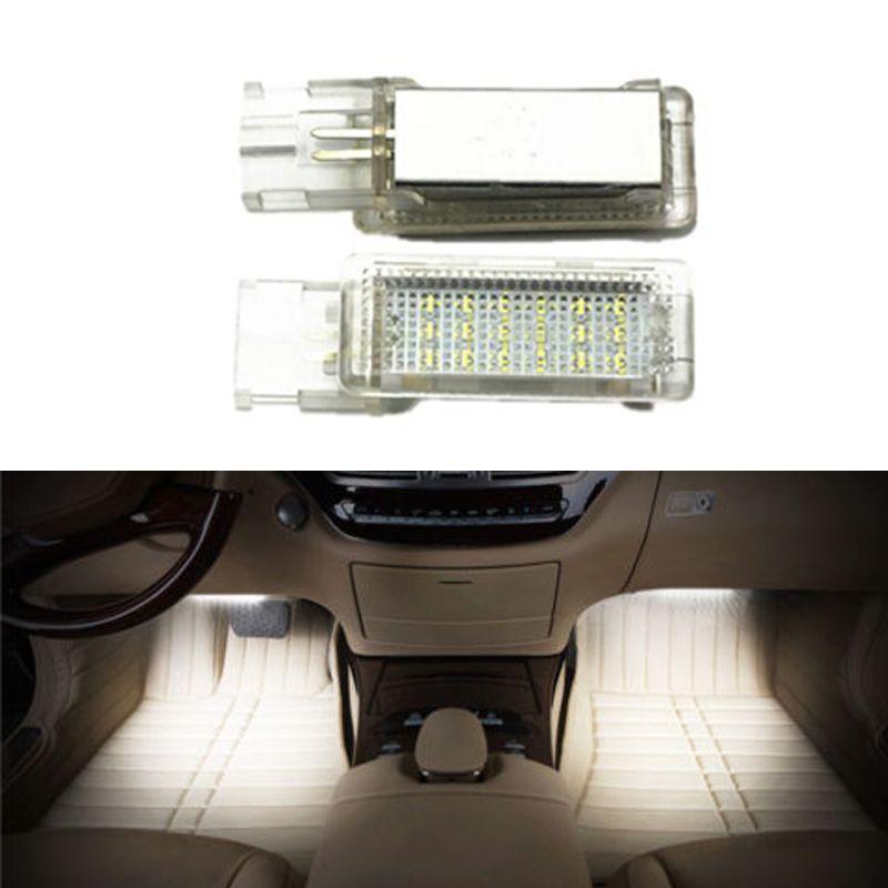 Pour VW Golf 5/6 Golf Plus Jetta Passat CC EOS Scirocco Tourage Sharan LED voiture chaussures lumière canbus pas de code d'erreur accessoire auto
