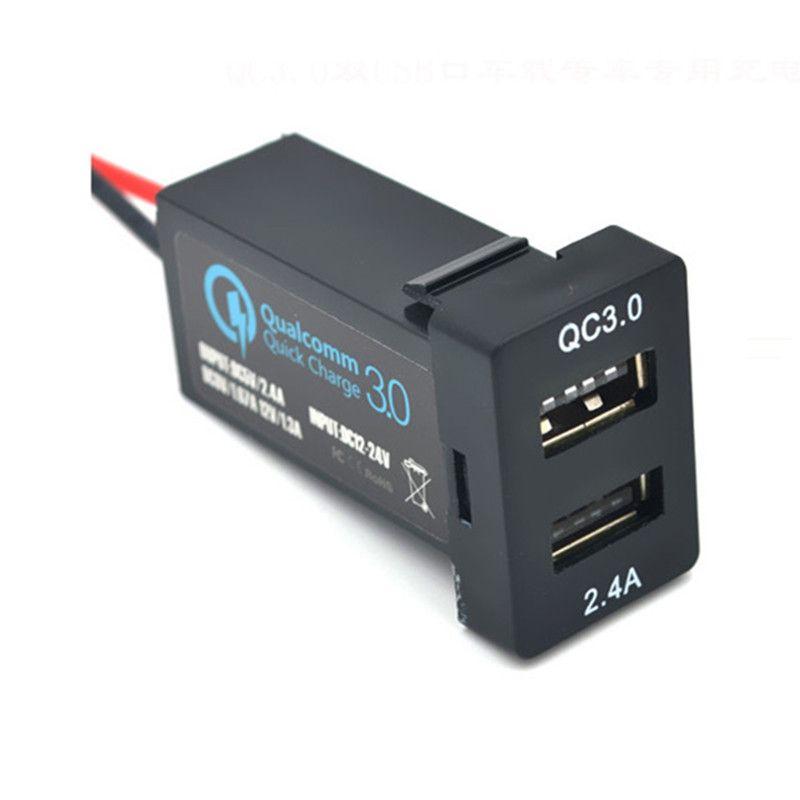 Auto Schnittstelle USB Ladegerät Dual usb port mit QC 3,0 schnelle gebühr für Lexus IS250 GX460 ES350 IS300h IS200t LX570 RC200t ES300h